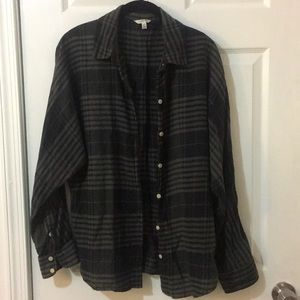 Gray and black flannel.